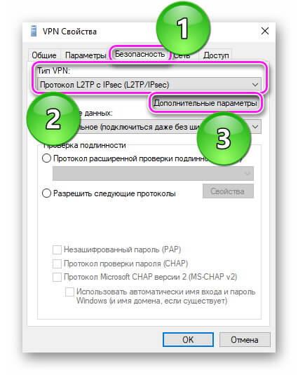 Свойста VPN